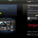 Gefälschte STEAM-Seite und Original