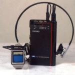 TV Watch, die weltweit Erste TV-Armbanduhr mit aktivem Matrix-Flüssigkristall-Display (LCD)