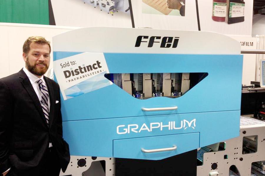 Vierfarbige UV-Etikettendruckmaschine Graphium