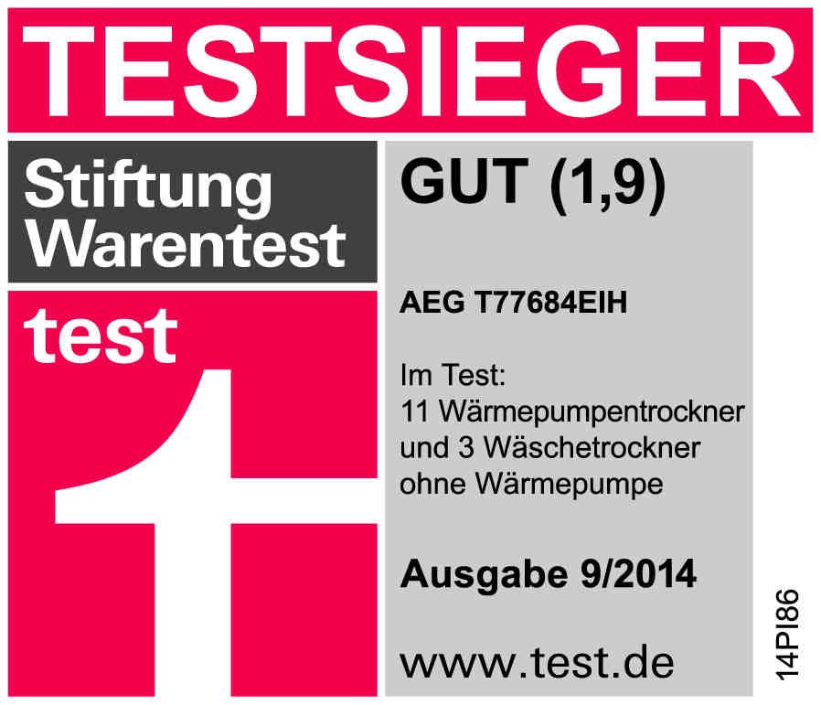 Stiftung Warentest Siegel T77684EIH