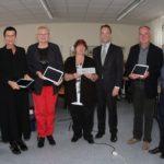 Übergabe der Tablet PCs-mit Staatssekretär Marc Jan Eumann