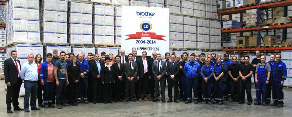 Brother und Nippon Express feiern 10-jährige Zusammenarbeit