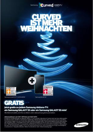 Samsung-Aktion: Curved ist mehr Weihnachten