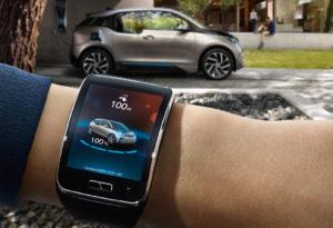 Samsung Gear S mit BMW i Remote App