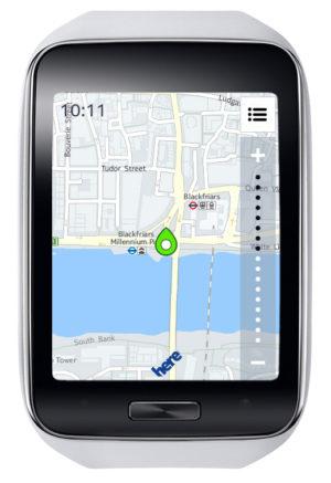 Samsung Gear S mit HERE App