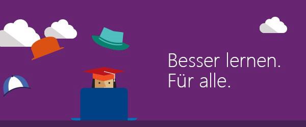 """Microsoft: """"Besser lernen. Für alle."""""""