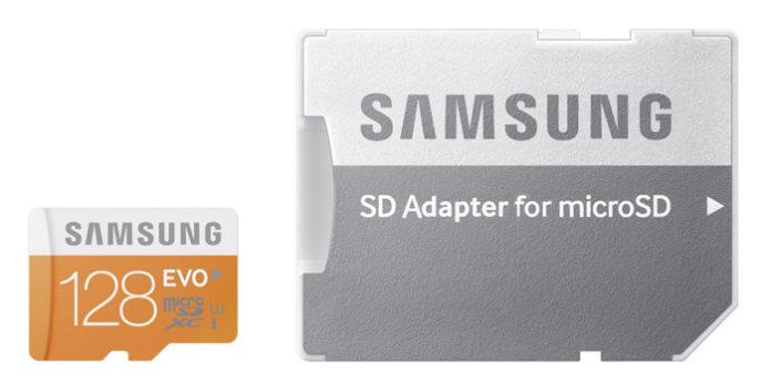 Samsung erweitert microSD-Serie EVO mit 128 GB-Karte
