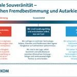 Digitale Souveränität - zwischen Fremdbestimmung und Autarkie