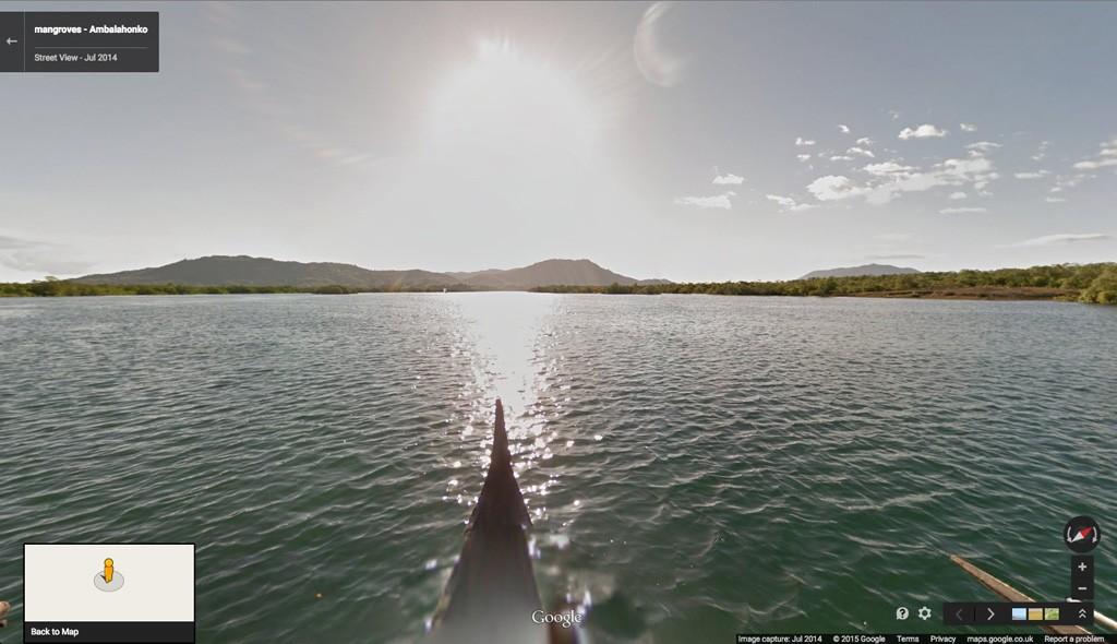 Google Street View: Mangroven-Ökosysteme entlang der Nordküste