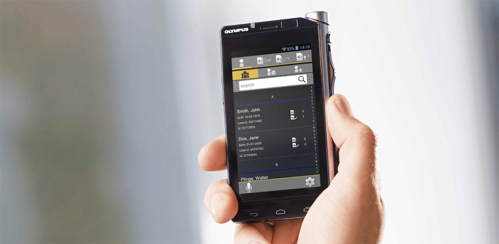 Olympus VoiSquare Diktiergerät mit WLAN-Schnittstelle und Android
