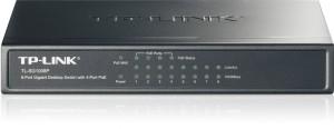 Bringt mehr Leistung: Switch TL-SG1008P mit acht Ports