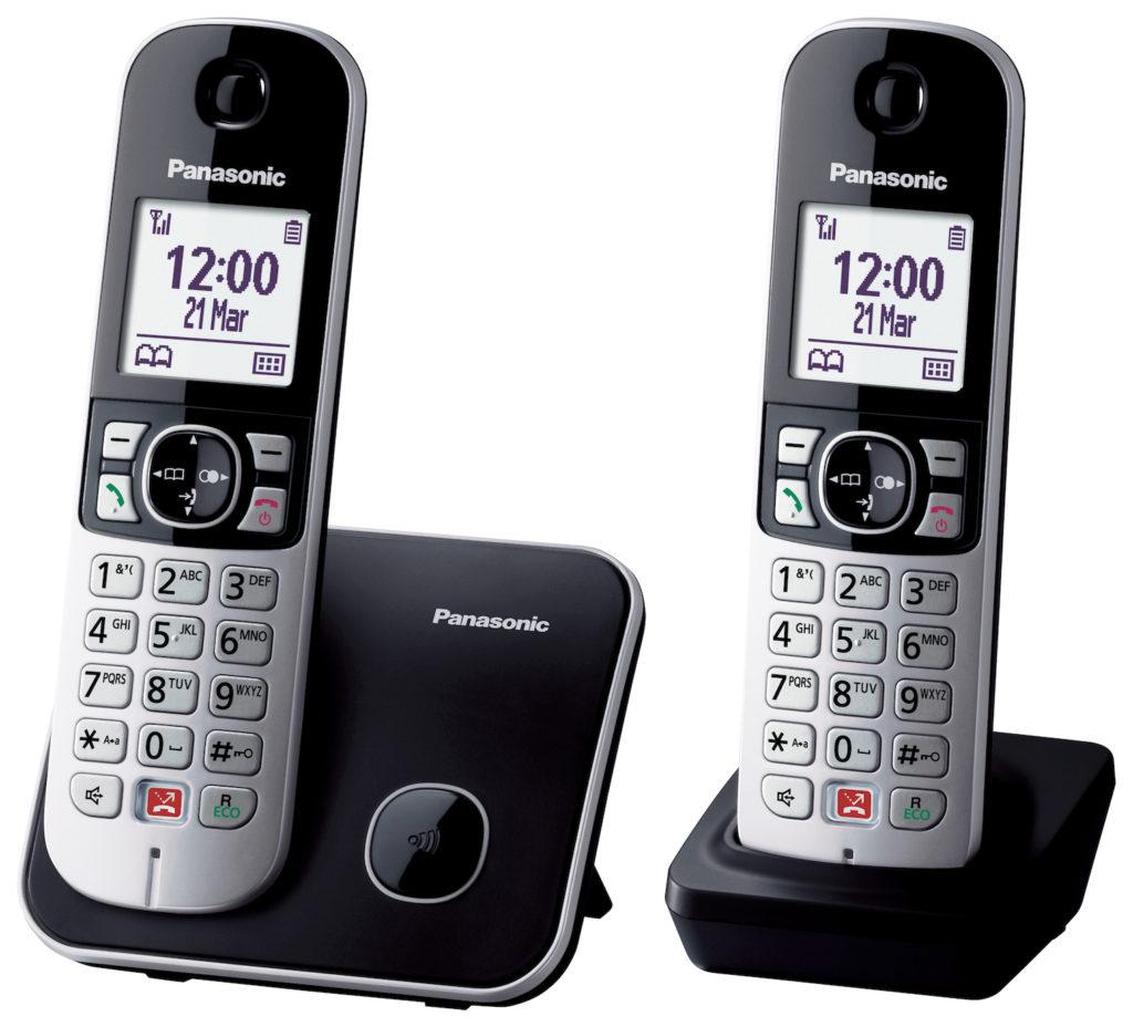 Panasonic Schnurlostelefon KX-TG6852 schwarz-silber